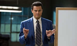 Leonardo DiCaprio as Jordan Belfort in The Wolf of Wall Street.