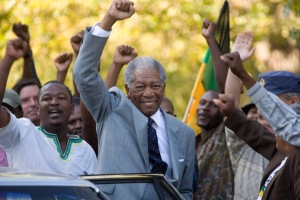 Morgan Freeman stars as Nelson Mandela