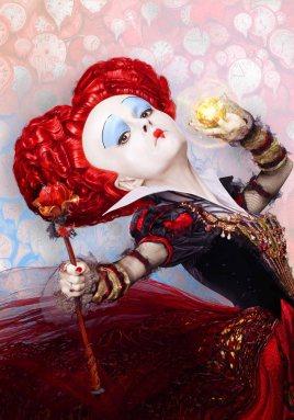 "Helena Bonham Carter como la ""Reina Roja"""