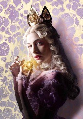 "Anne Hathaway como la ""Reina Blana"""